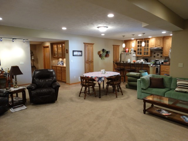 Basement Family Room After