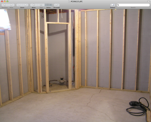 Basement Office Before